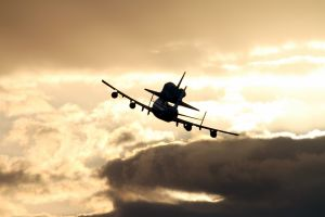 photography nasa boeing 747 sky discovery clouds airplane aircraft space shuttle space shuttle discovery