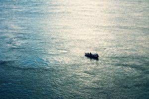 photography rowboat sea boat fisherman