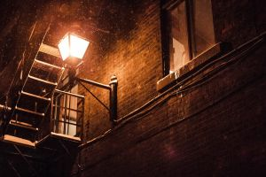 photography snow street light street