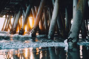 pier sea beach water