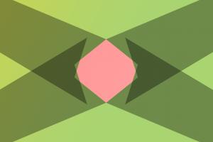 pink geometry minimalism