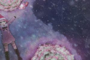 pippi anime snow christmas osu anime girls