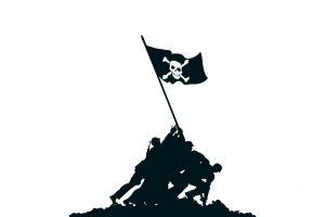 piracy flag simple background monochrome