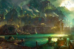 pirates league of legends bilgewater fantasy art ports