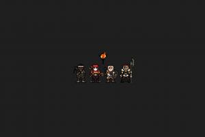 pixel art dark video games darkest dungeon