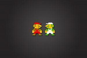 pixels mario bros. video games luigi 8-bit nintendo entertainment system