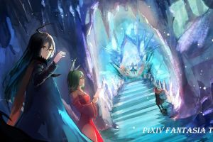 pixiv fantasia colorful anime colorful
