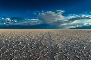 plains nature salt lakes landscape horizon desert