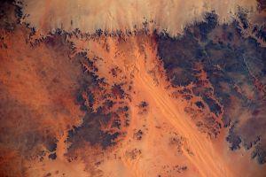 planet mars aerial view