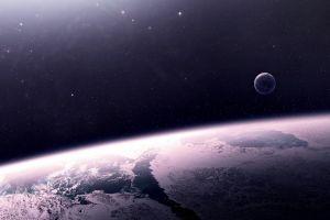 planet multiple display space art