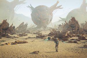 planet science fiction artwork