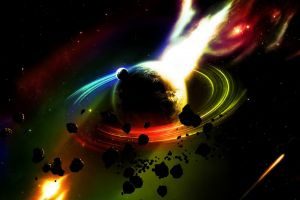 planet space digital art colorful space art