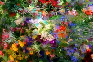 plants artwork digital art flowers