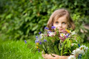 plants children flowers