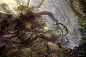 plants fantasy art nature trees creature