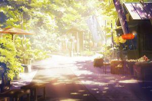 plants urban anime artwork