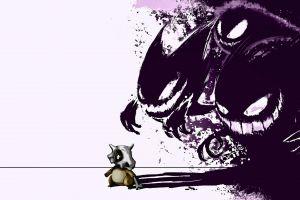 pokémon cubone ghastly digital art gengar