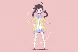 ponytail onodera haru anime tie anime girls simple background school uniform nisekoi hair ornament