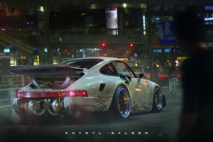 porsche 911 turbo render porsche artwork twin-turbo khyzyl saleem car