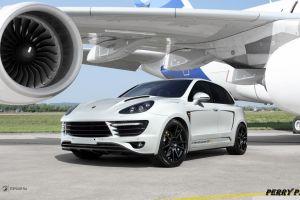 porsche airplane car white cars