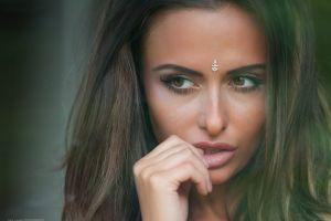 portrait bindi jack russell face women