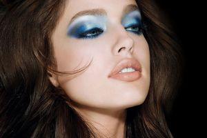 portrait looking away blue eyes women emily didonato  brunette face makeup