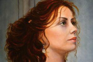 portrait painting women