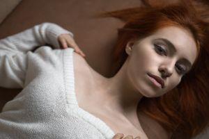 portrait redhead face women