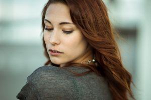 portrait victoria ryzhevolosaya model redhead nose rings women face