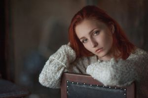 portrait vladislava masko model redhead face women