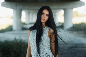 portrait women darina maks kuzin long hair