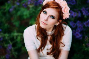portrait women face redhead