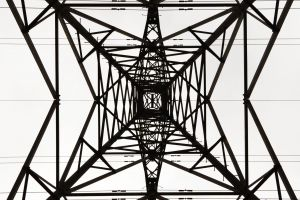power lines metal monochrome