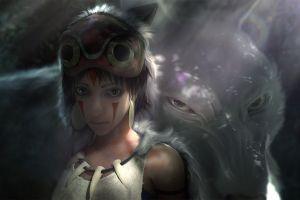 princess mononoke fantasy art artwork anime girls