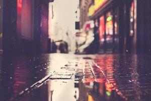 puddle street rain
