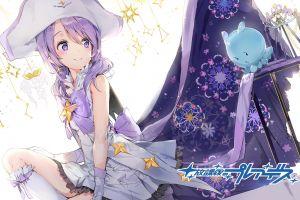 purple hair anime anime girls purple eyes houkago no pleiades nanako (houkago no pleiades)