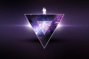 purple universe astronaut