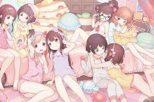 pyjamas pink pajamas original characters candy loli anime pink anime girls
