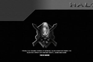 quote halo monochrome video games