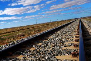 railroad track landscape metal railway