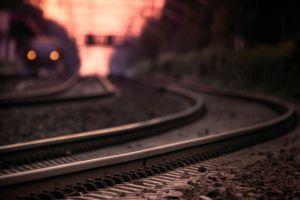 railway dusk outdoors soft