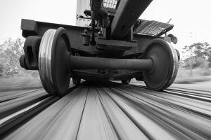 railway monochrome vehicle metal