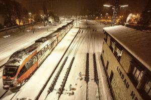 railway train rail yard