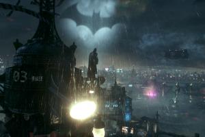 rain batman: arkham knight batman night video games screen shot