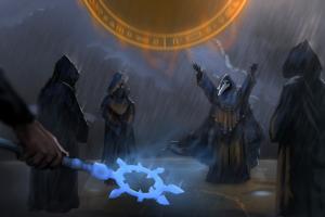 rain terraria lightning cultist fantasy art magic