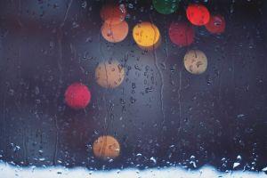 rain water drops water on glass