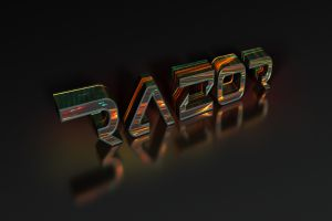 razor colorful text