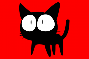 red background flcl cats red