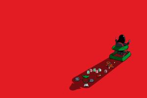 red background minimalism star wars humor