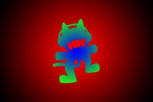 red background monstercat simple background